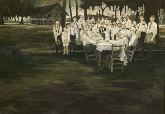 Aioli Dinner by George Rodrigue on display at the Ogden Museum of Southern Art