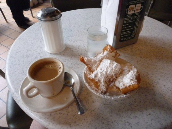Get in line at Cafe du Monde